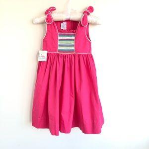 Fuchsia Smocked Dress